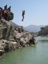 Me jumping of cliff into Ganges.jpg